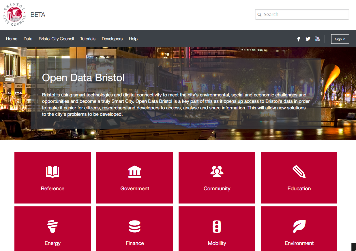 Bristol Open Data portal