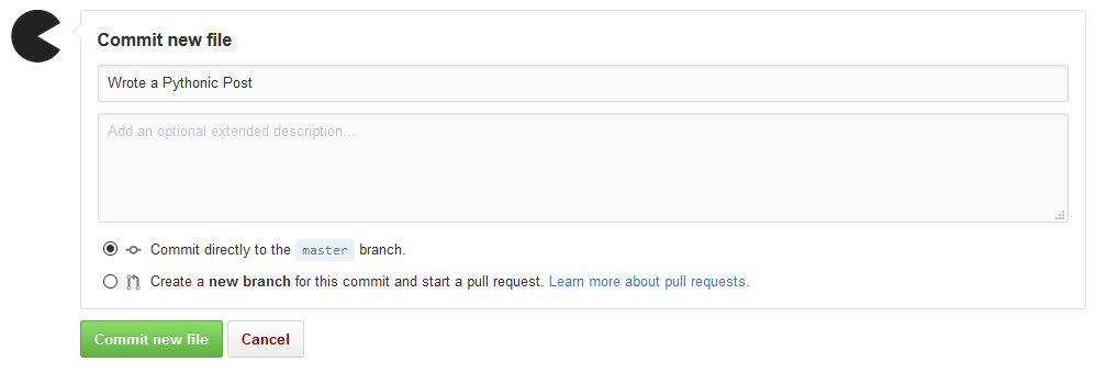 Starting a pull request